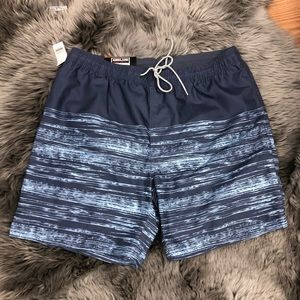 Kirkland Swim Shorts: Blue Stripes (PM1059P